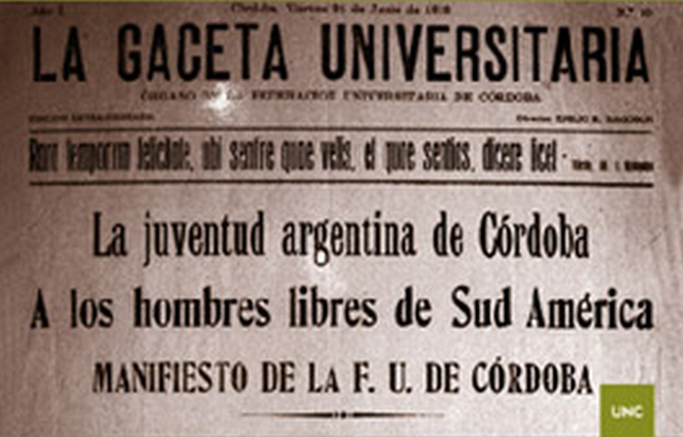 Camino al centenario de la Reforma Universitaria