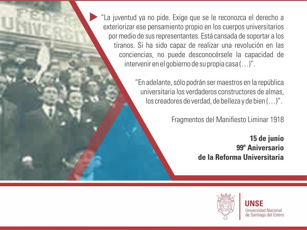 Especial a 99 años de la Reforma Universitaria