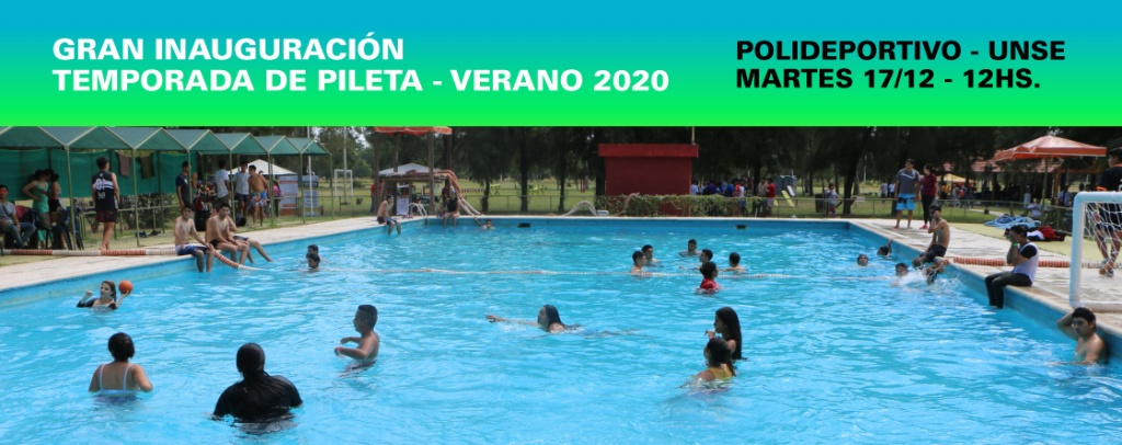 Invitan a la Gran inauguración de temporada de pileta-Verano 2020