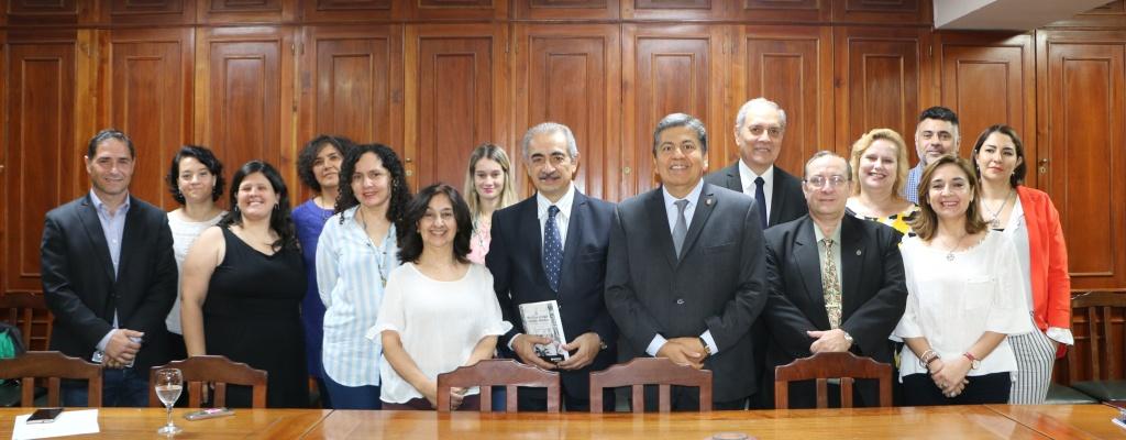 El ministro Daives visitó la UNSE y conoció sus  políticas institucionales en derechos humanos