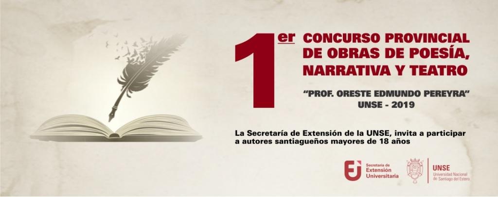 1° Concurso Provincial de Obras de Poesía Narrativa y Teatro