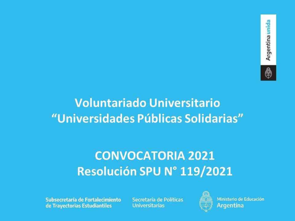 SPU: Voluntariado 2021