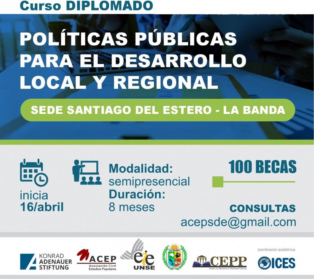 Inicia el dictado del Curso Diplomado en Políticas Públicas para el Desarrollo Local y Regional