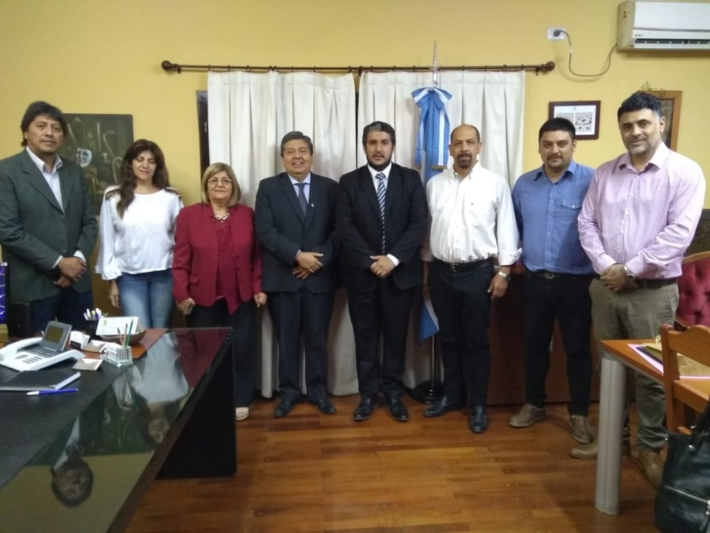 El Rector de la UNSE se reunió con el Intendente de Frías