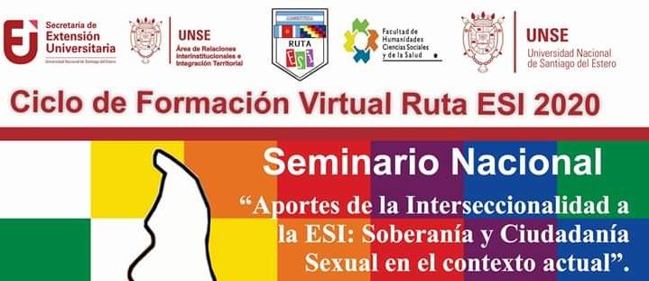 """Seminario Nacional """"Aportes de la Interseccionalidad a la ESI: Soberanía y Ciudadanía Sexual en el contexto actual"""""""