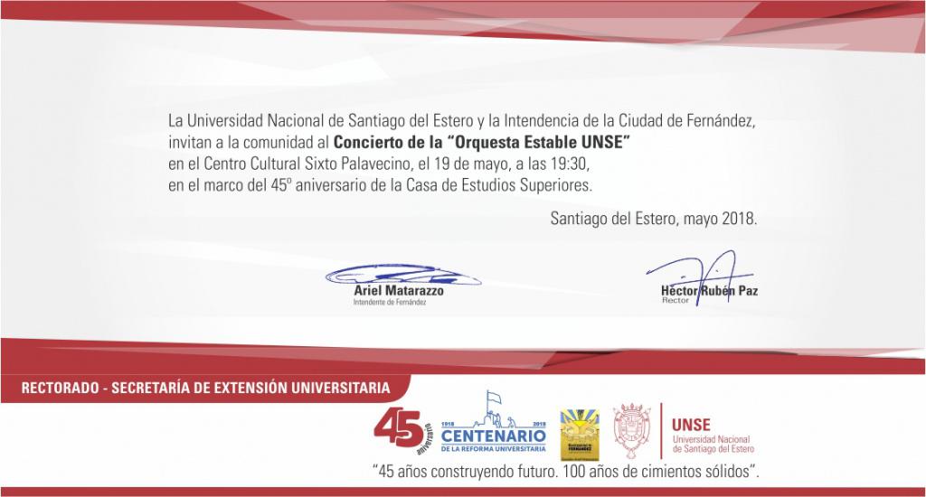La UNSE celebra su Aniversario en Fernández