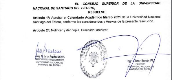 Calendario Académico Marco 2021