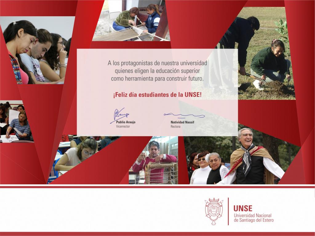 Felicidades estudiantes de la UNSE