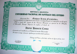 Doctor Honoris Causa Gaspar Risco Fernández