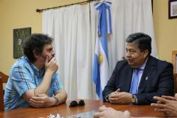 Visita de Felipe Pigna